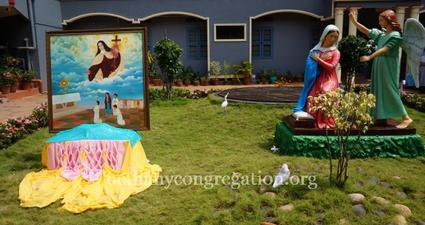 Unveiling of the Annunciation Statue and Portrait of the Little Flower and Blessing in Bethany.