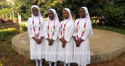 First four from Tanzania make their first Profession in Bethany Congregation